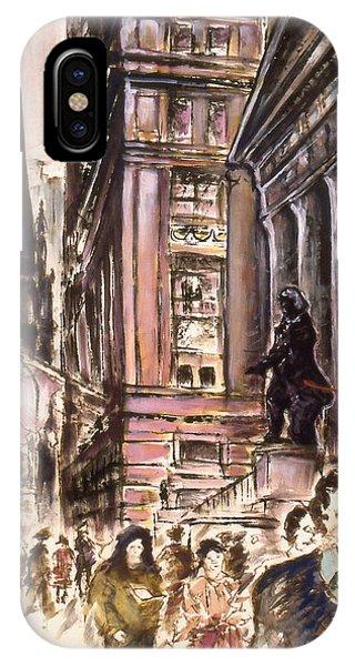 New York Wall Street - Fine Art Painting IPhone Case