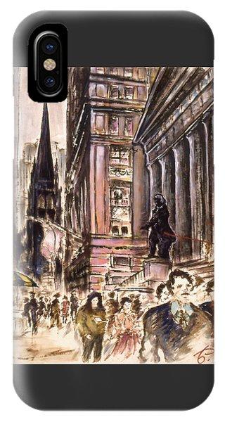 New York Wall Street - Fine Art IPhone Case