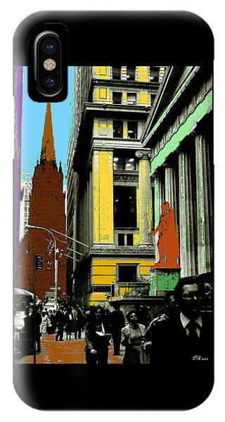 New York Pop Art In Blue Green Red Yellow IPhone Case