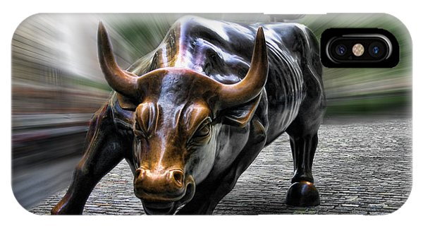 Wall Street Bull IPhone Case