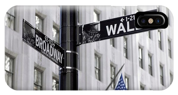 Street Sign iPhone Case - Wall Street Sign by Mark Thomas/science Photo Library
