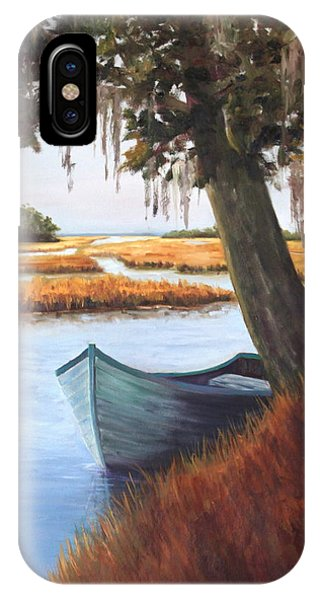 Wallowing In The Marsh Phone Case by Karen Langley