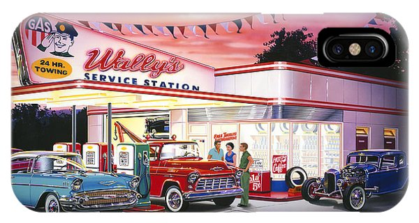 Wallys Service Station IPhone Case