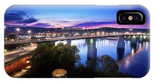 Walnut Street Walking Bridge Bluff View IPhone Case
