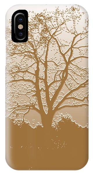 Walnut Tree Series Plaster Golden IPhone Case