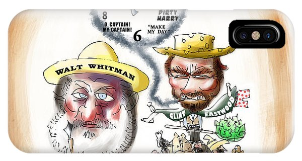 Walt Whitman Meets Clint Eastwood IPhone Case