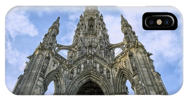 Walter Scott Monument - Edinburgh - Scotland IPhone Case