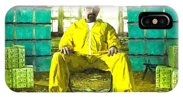 Walter White As Heisenberg Painting IPhone Case