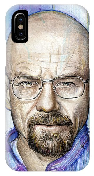 Mixed-media iPhone Case - Walter White - Breaking Bad by Olga Shvartsur