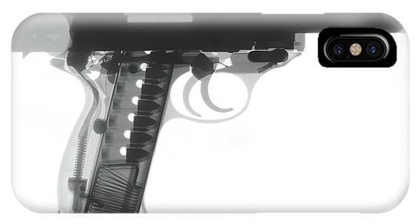 Calico M100 iPhone Case - Walther P38 X-ray Photograph by Ray Gunz