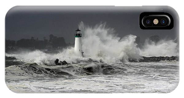 Walton Lighthouse Takes A Beating IPhone Case