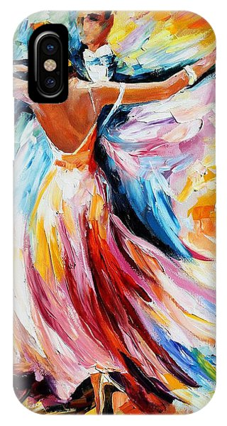 iPhone Case - Waltz - Palette Knife Oil Painting On Canvas By Leonid Afremov by Leonid Afremov