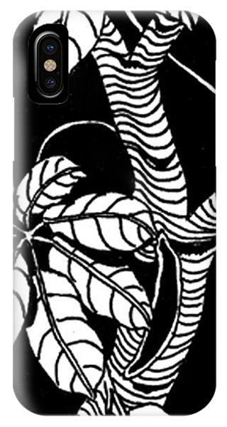 Wandering Leaves Octopus Tree Design IPhone Case