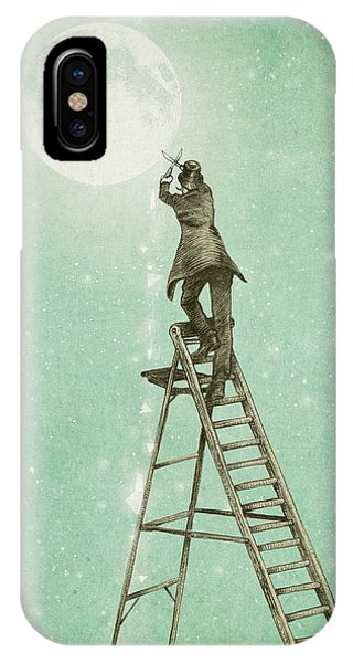 Vintage iPhone Case - Waning Moon by Eric Fan