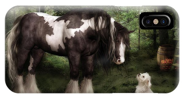 White Horse iPhone Case - Want To Play by Shanina Conway