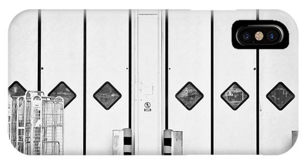 Trucking iPhone Case - Warehouse Doors by Tom Gowanlock