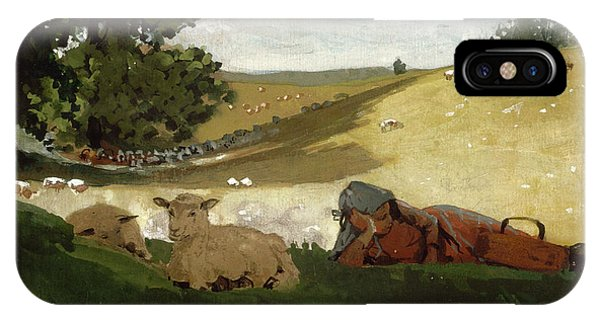 iPhone Case - Warm Afternoon Shepherdess by