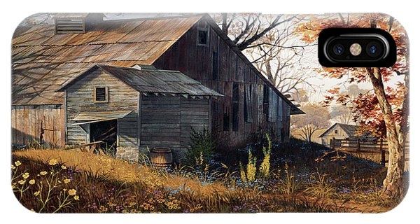 Barn iPhone Case - Warm Memories by Michael Humphries