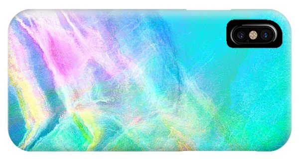 IPhone Case featuring the mixed media Warm Seas- Abstract Art by Jaison Cianelli