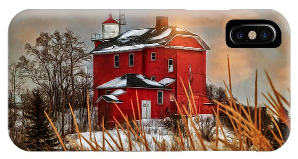 Warming By The Sun Phone Case by Upper Peninsula Photography