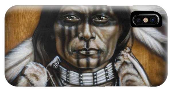 American Indian iPhone Case - Warpaint by Timothy Scoggins