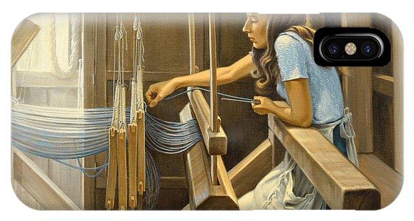 Craftsman iPhone Case - Warping The Loom  by Paul Krapf