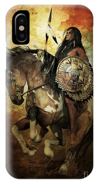 Native iPhone Case - Warrior by Shanina Conway