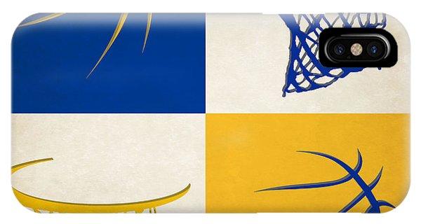 Sports iPhone Case - Warriors Ball And Hoop by Joe Hamilton