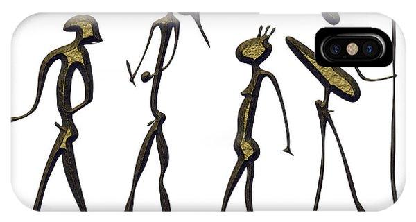 Simple iPhone Case - Warriors - Primitive Art by Michal Boubin