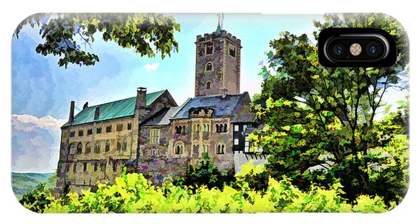 IPhone Case featuring the photograph Wartburg Castle - Eisenach Germany - 1 by Mark Madere