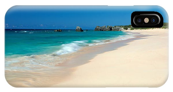 Oceanfront iPhone Case - Warwick Long Bay Beach Bermuda by Panoramic Images