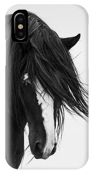 Wild Horses iPhone Case - Washakie's Portrait by Carol Walker