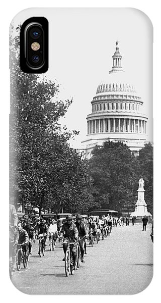 D.c. iPhone Case - Washington Bicycle Parade by Underwood Archives
