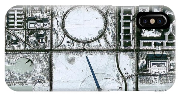 Washington Dc In Snow Phone Case by Geoeye/science Photo Library