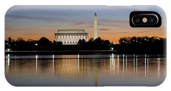 Washington Dc - Lincoln Memorial And Washington Monument IPhone Case