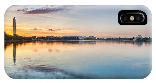 Jefferson Memorial iPhone Case - Washington Dc Panorama by Sebastian Musial
