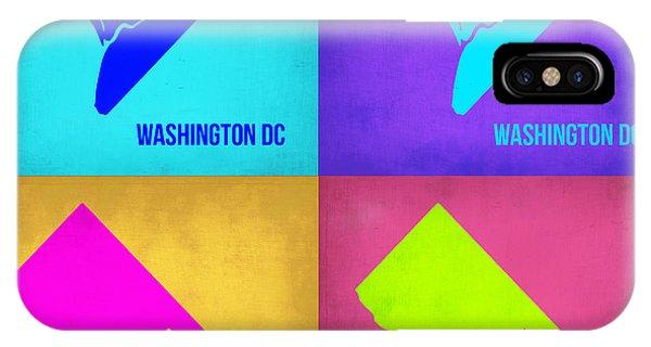 Washington iPhone Case - Washington Dc Pop Art Map 1 by Naxart Studio