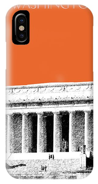 Washington Dc Skyline Lincoln Memorial - Coral IPhone Case