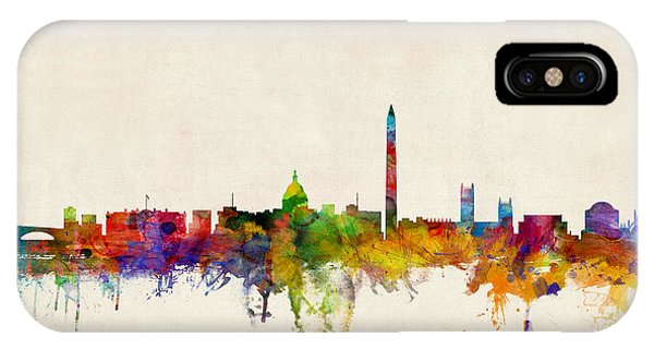 Skyline iPhone Case - Washington Dc Skyline by Michael Tompsett