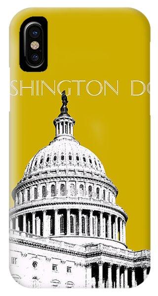 Washington Dc Skyline The Capital Building - Gold IPhone Case