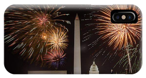 Washington Fireworks IPhone Case