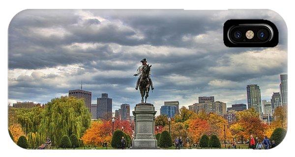 Washington In The Public Garden IPhone Case