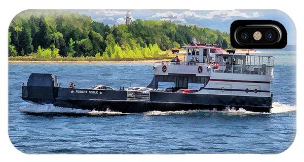 Washington Island Ferry Robert Noble Door County IPhone Case