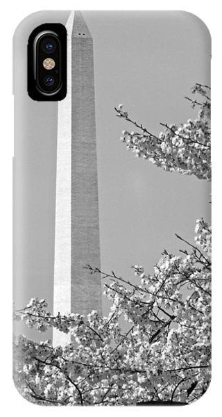 Washington Monument Amidst The Cherry Blossoms IPhone Case