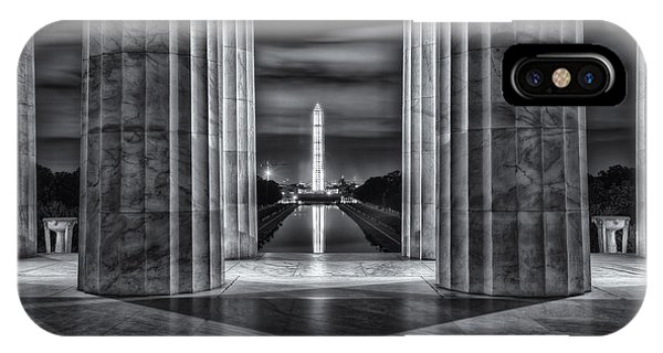Washington Monument From Lincoln Memorial II IPhone Case