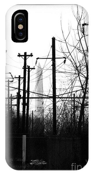 Washington Monument From The Train Yard. Washington Dc IPhone Case