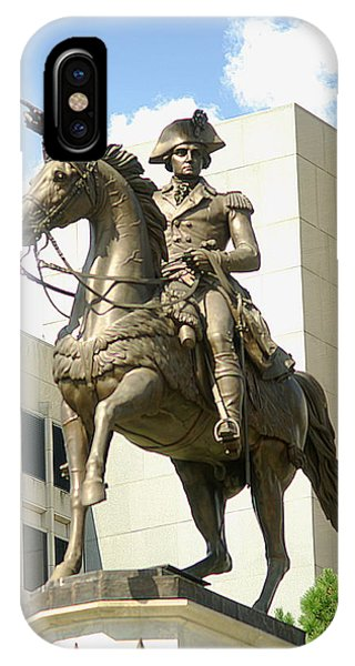 Washington On His Horse IPhone Case