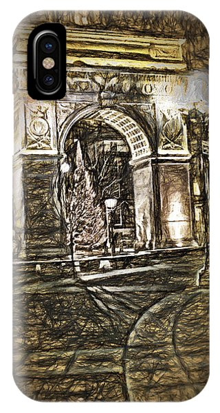 Washington Square Sketch IPhone Case