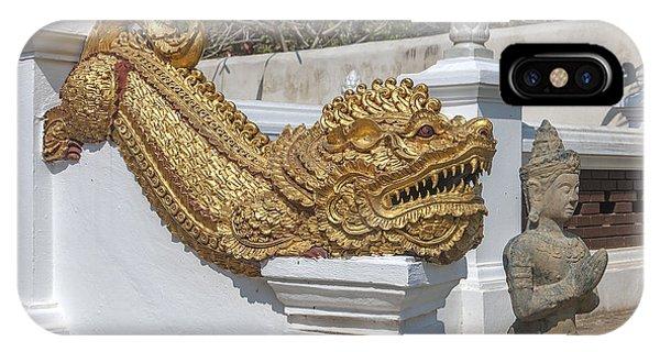 Wat Chedi Liem Phra Ubosot Gate Makara Dthcm0836 IPhone Case