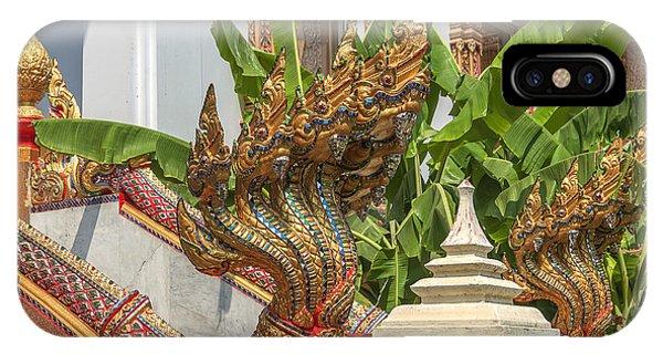 Wat Dokmai Phra Ubosot Stair Naga Dthb1783 IPhone Case